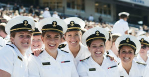 The Naval Academy Class of 2020 has the highest number of women in the institution's history.