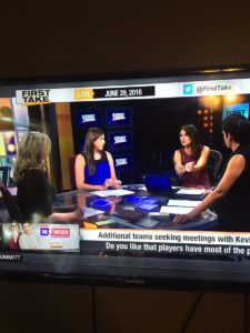 An all-female team of sports commentators on ESPN sparked pushback from social media.