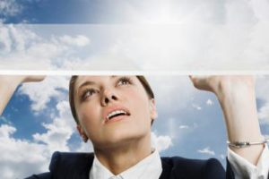 Women in the workplace can employ strategies as they face a glass mezzanine before they reach the glass ceiling.