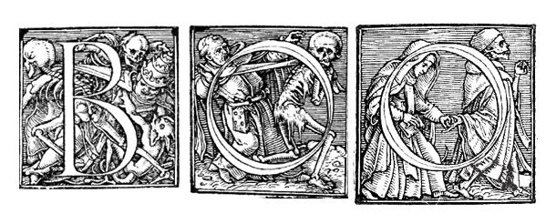 Alphabet of Death by Hans Holbein the Younger