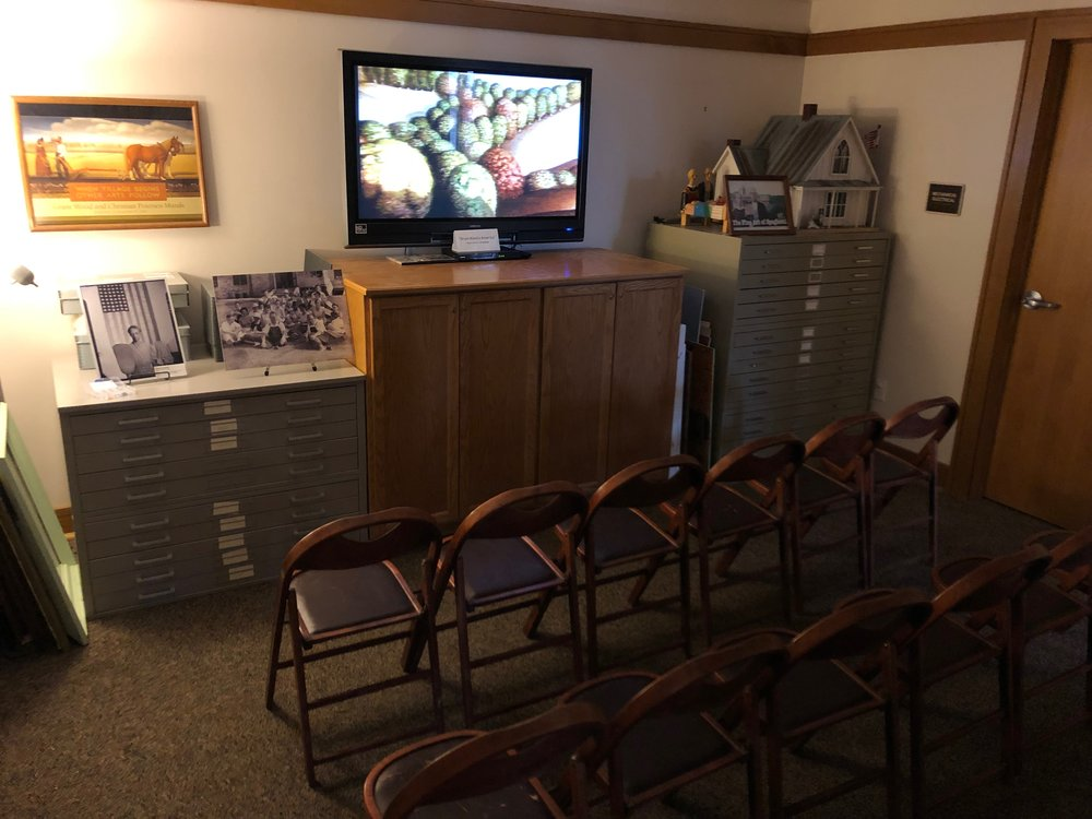 - We have a media room featuring two videos (a 30-minute documentary geared towards adults and a 17-minute cartoon for kids).