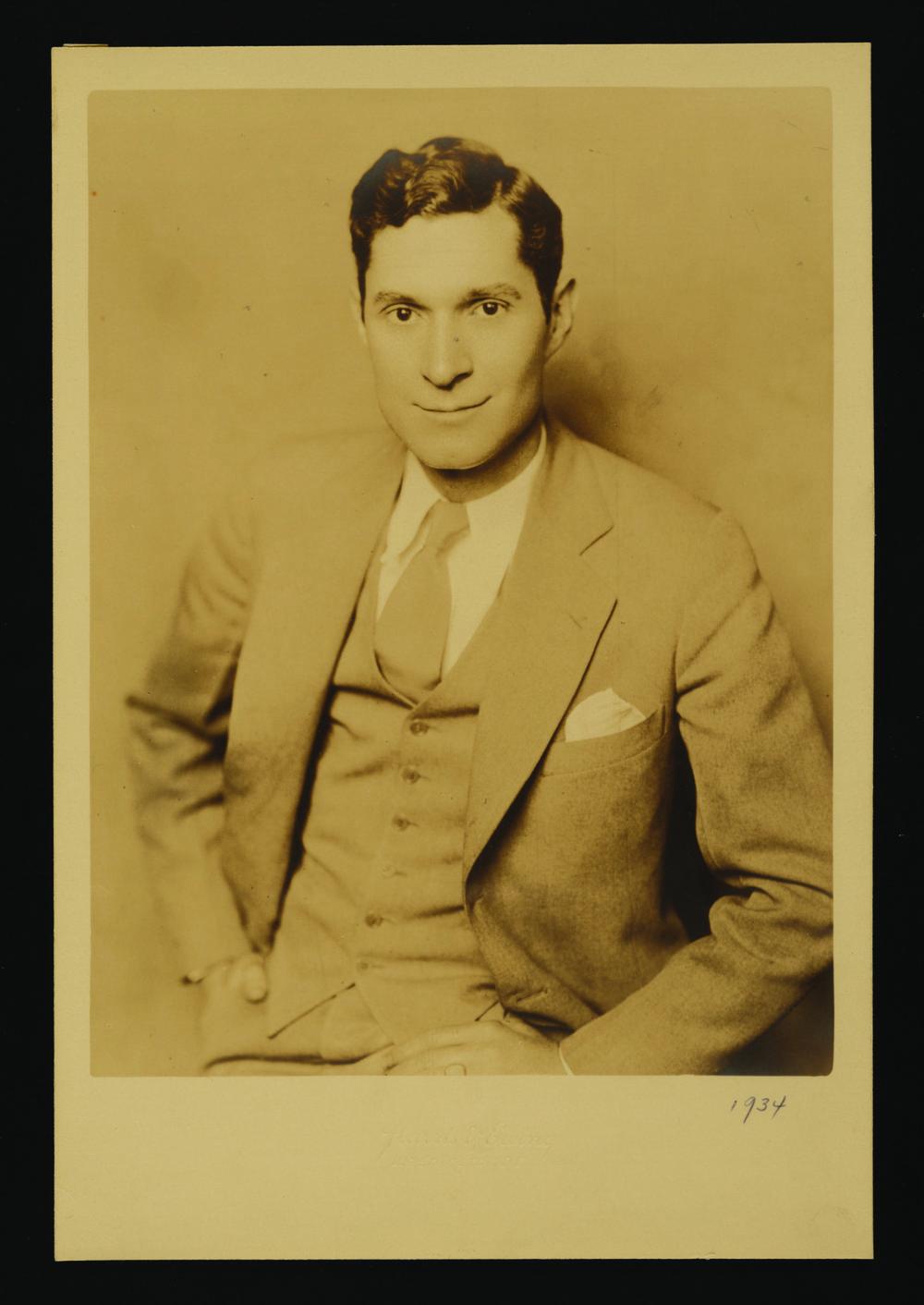 Edward Rowan, 1934.  Photo courtesy of the Smithsonian.