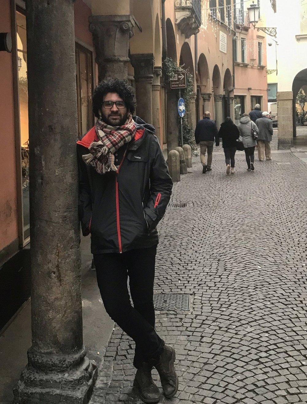 Gui Lacerda em sua especialização em Pádova/Itália 2018