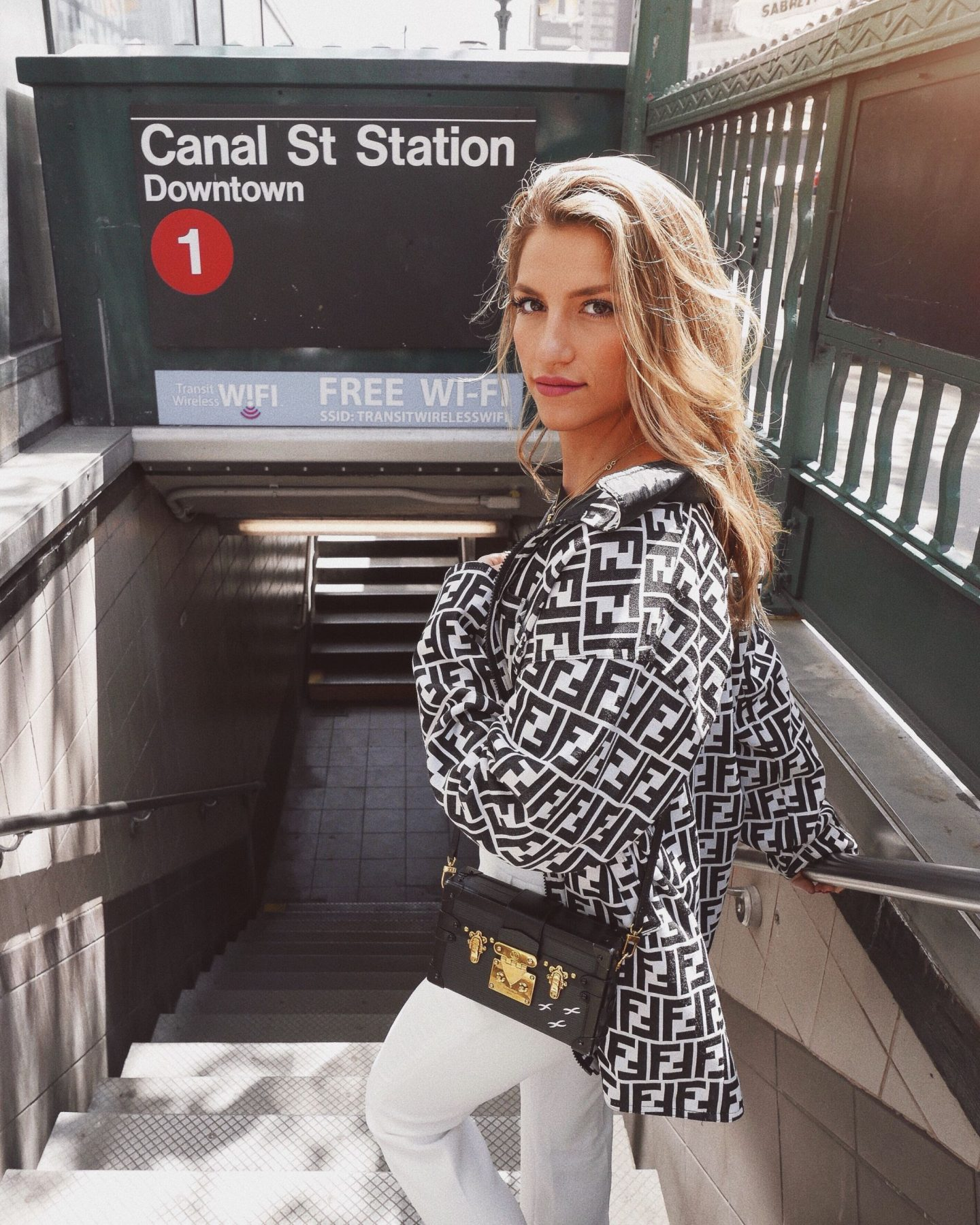 Cassandra DiMicco, Cass DiMicco, Dressed For Dreams, NYC, New York City, New York, Street Style NYC, Street Style 2018, NYC Street Style Street Style Outfits, 2018 Trends, NYC Fashion Blogger, vintage outfit, vintage jacket, vintage fendi, fendi jacket, Louis Vuitton petite Malle bag