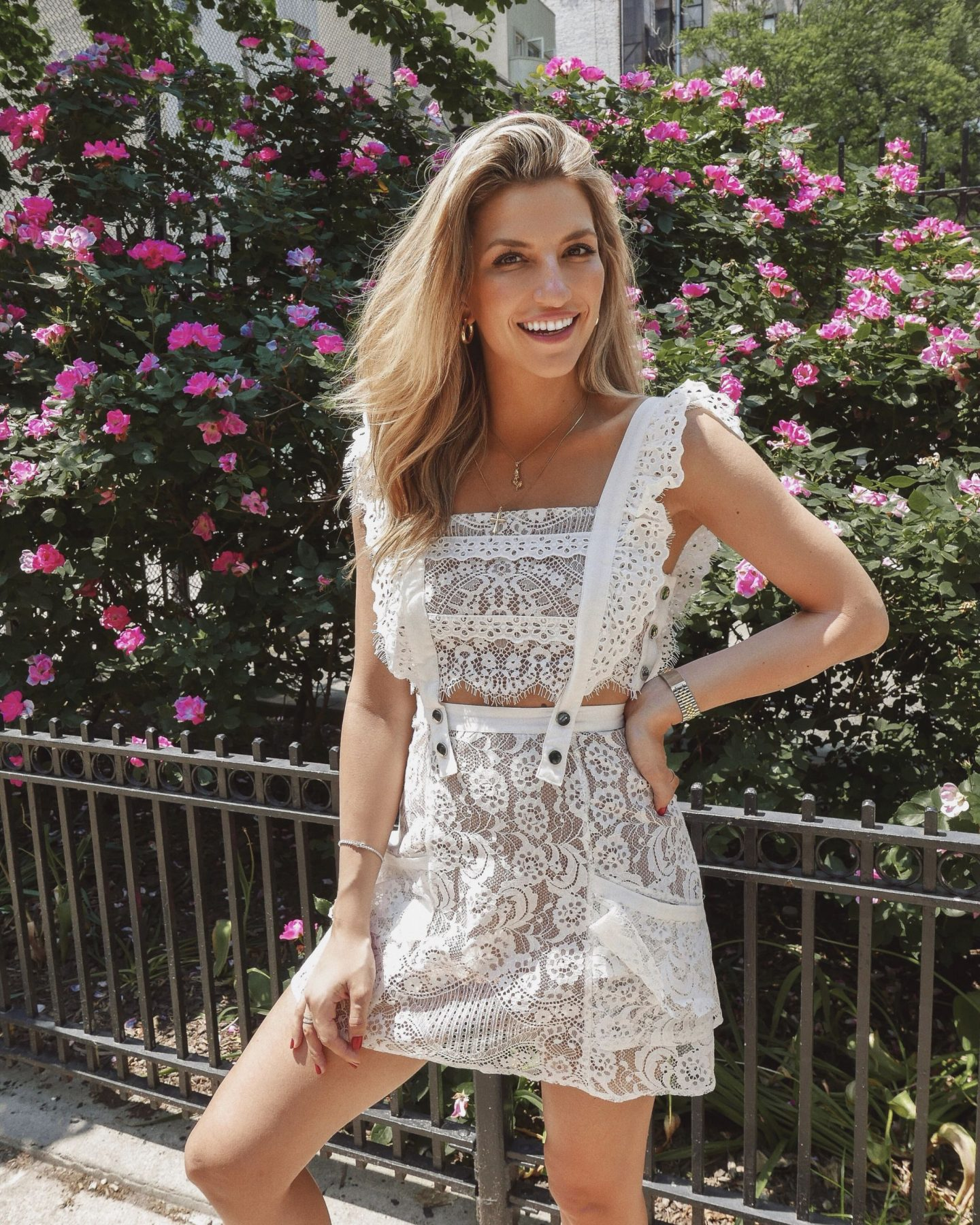 Cassandra DiMicco, Cass DiMicco, Dressed For Dreams, NYC, New York City, New York, Street Style NYC, Street Style 2018, NYC Street Style Street Style Outfits, 2018 Trends, NYC Fashion Blogger, for love and lemons, for love and lemons Tati lace dress, for love and lemons lace dress, white lace dress