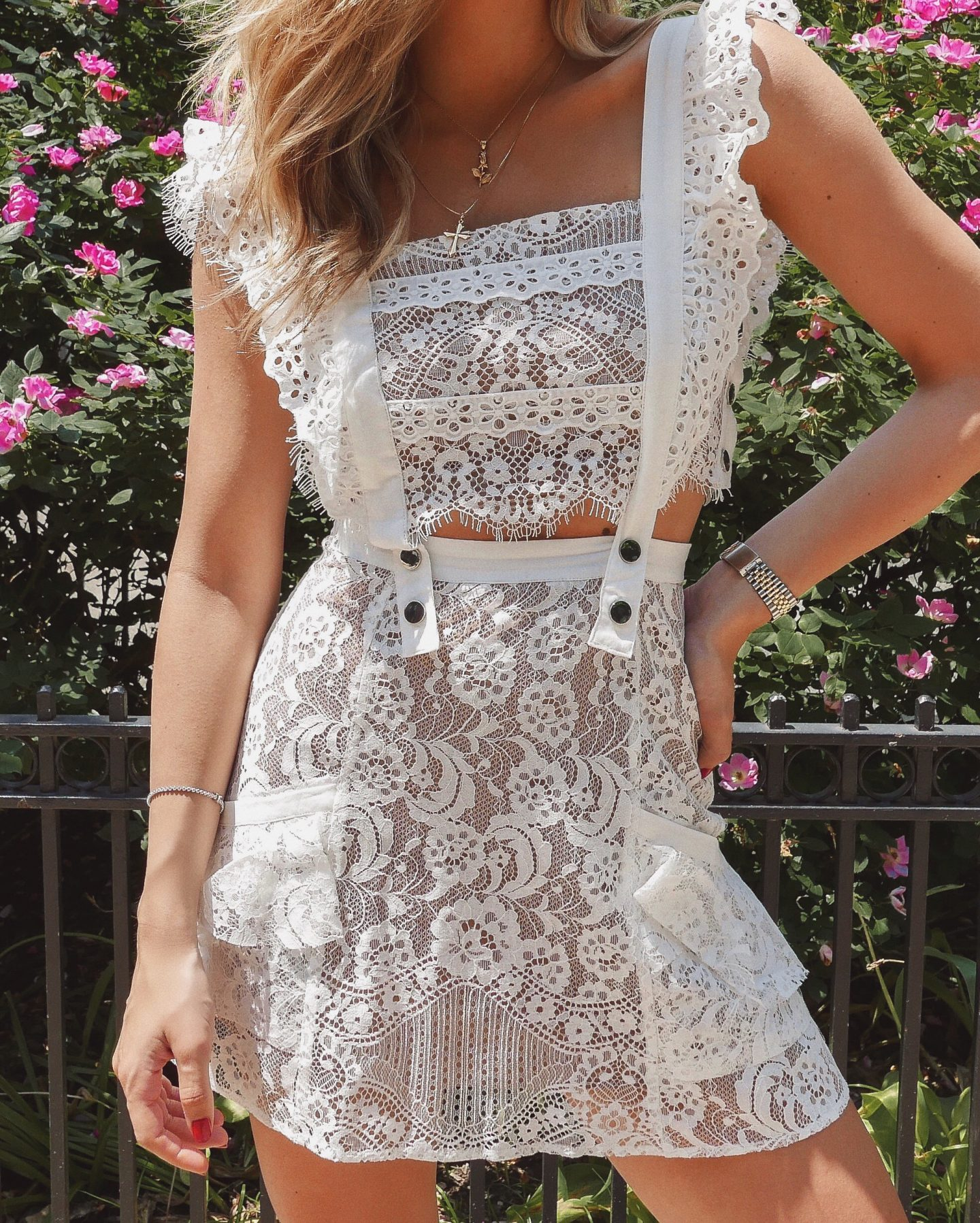 Cassandra DiMicco, Cass DiMicco, Dressed For Dreams, NYC, New York City, New York, Street Style NYC, Street Style 2018, NYC Street Style Street Style Outfits, 2018 Trends, NYC Fashion Blogger, for love and lemons lace dress, lace dress, for love and lemons Tati lace dress, white lace dress