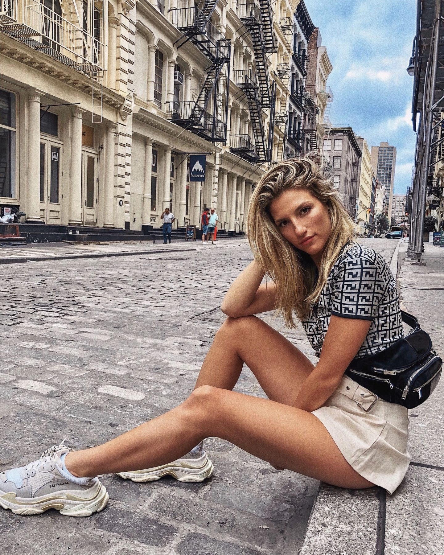 Cassandra DiMicco, Cass DiMicco, Dressed For Dreams, NYC, New York City, New York, Street Style NYC, Street Style 2018, NYC Street Style Street Style Outfits, 2018 Trends, Summer Style, Summer Outfit Inspo, NYC Fashion Blogger, NYC Fashion Blogger, NYC to do list, NYC to do, NYC bucket list, NYC Instagram Spots, SoHo, Balenciaga Triple S Sneakers, Balenciaga Sneakers, Fendi Logo Tee, Vintage Fendi Tee, Alexander Wang Belt Bag, Alexander Wang, NYC Outfit Inspo