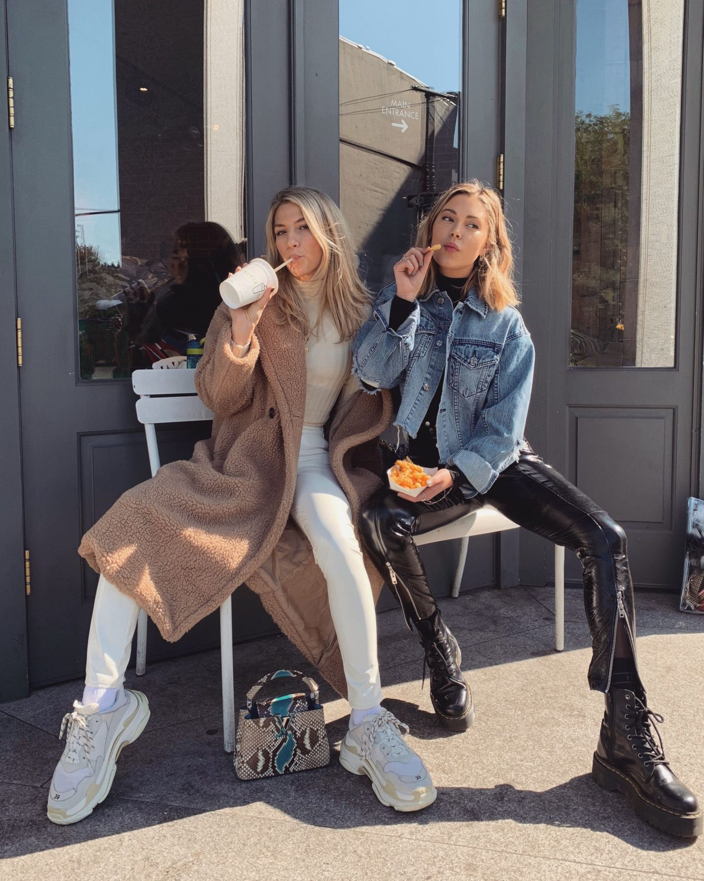 Cassandra DiMicco, Cass DiMicco, Dressed For Dreams, NYC, New York City, New York, Street Style NYC, Street Style 2018, NYC Street Style, NYC Outfit Inspo Street Style Outfits, 2018 Trends, Summer Style, Summer Outfit Inspo, NYC Fashion Blogger, NYC Fashion Blogger, NYC to do list, NYC to do, NYC bucket list, NYC Instagram Spots, 2018 trends, Brooklyn bridge, LPA, storets, privacy please, Louis Vuitton, balenciaga, teddy coat, Louis Vuitton python, balenciaga triple s sneakers, triple s sneakers