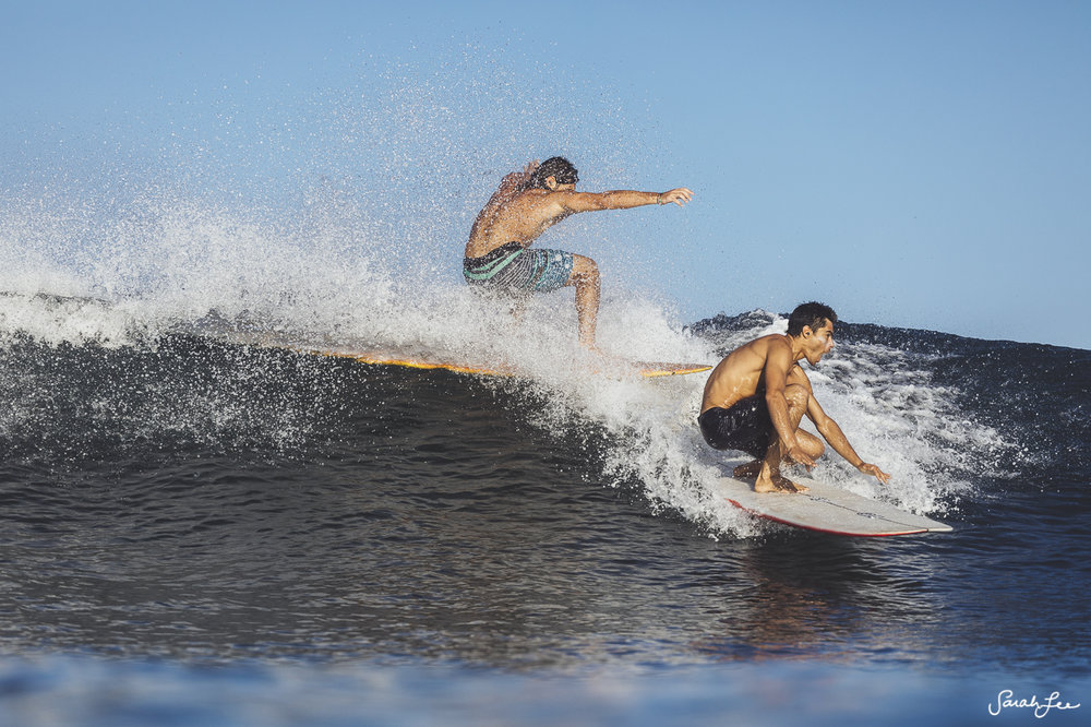 Cyrus Sutton and John Angiulo at Mexi Log Fest 2018 · Longboard Surfing Festival Mexico