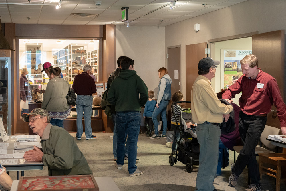I was surprised to see how many people were at the open house. They had pizza for everyone but that didn't last!