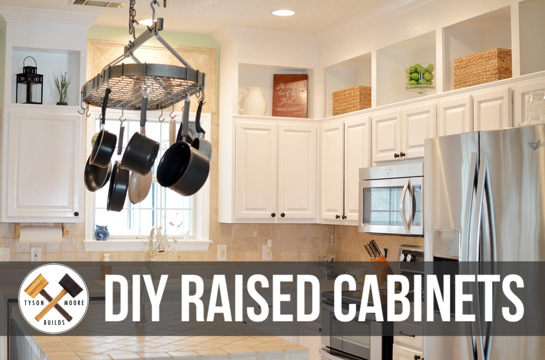 Kitchen Cabinet Makeover — Blog — Tyson Moore / Builds on kitchens without top cabinets, raising kitchen cabnet, raising kitchen counter, raising kitchen ceiling,