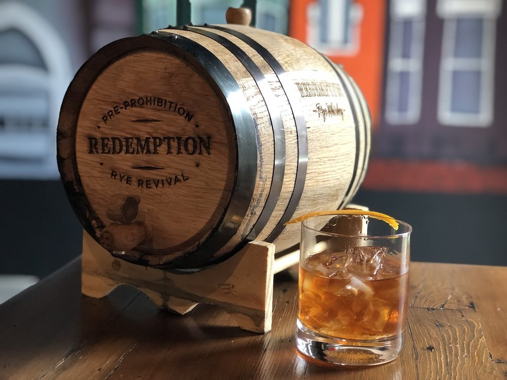 """The """"3-Wood Redemption Rye Old Fashioned"""" - Our own triple-casked, three-wood blend"""