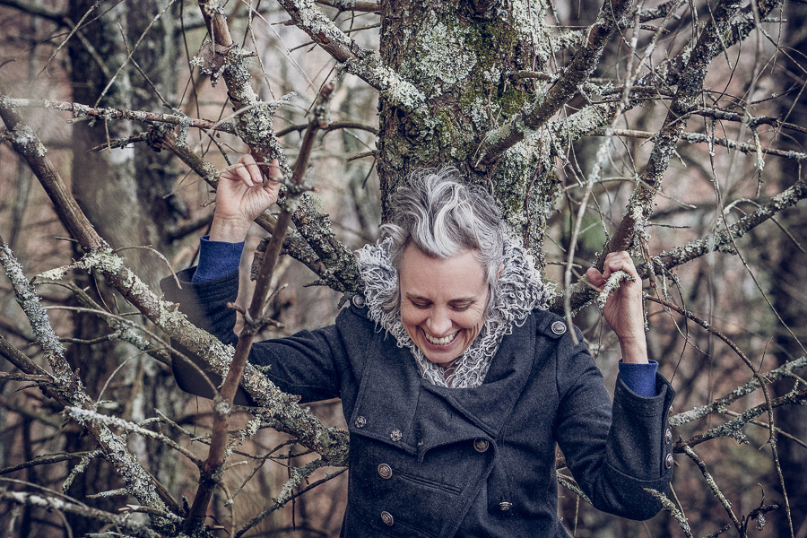 Here I am recharging in the woods, with my lovely wife photographer, Meg Reilley.
