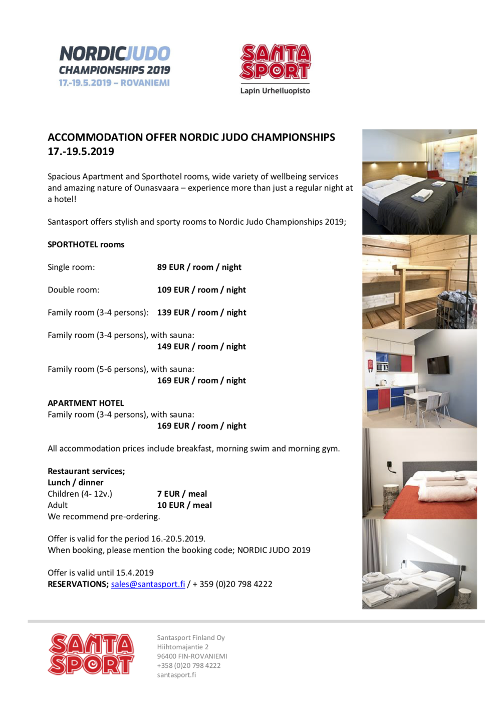 Nordic Judo Championships 2019_Accommodation offer, KH.png