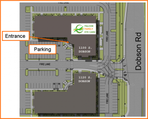 Map of the Presidio office complex parking