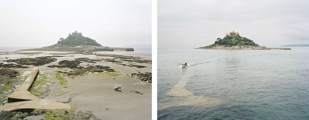 St Michael's Mount, Cornwall. 25th and 26th June 2009. Low Water 1.15pm, High Water 8am