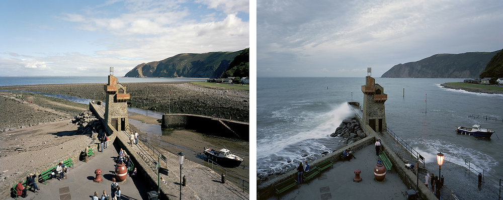 Lynmouth, Devon. 17th and 19th September 2005. Low Water 12:45pm, High Water 7:30pm