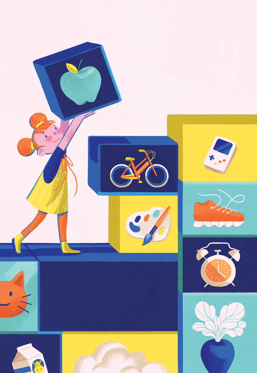 Cover illustration for OHSU's Kids Health Annual in Portland, OR