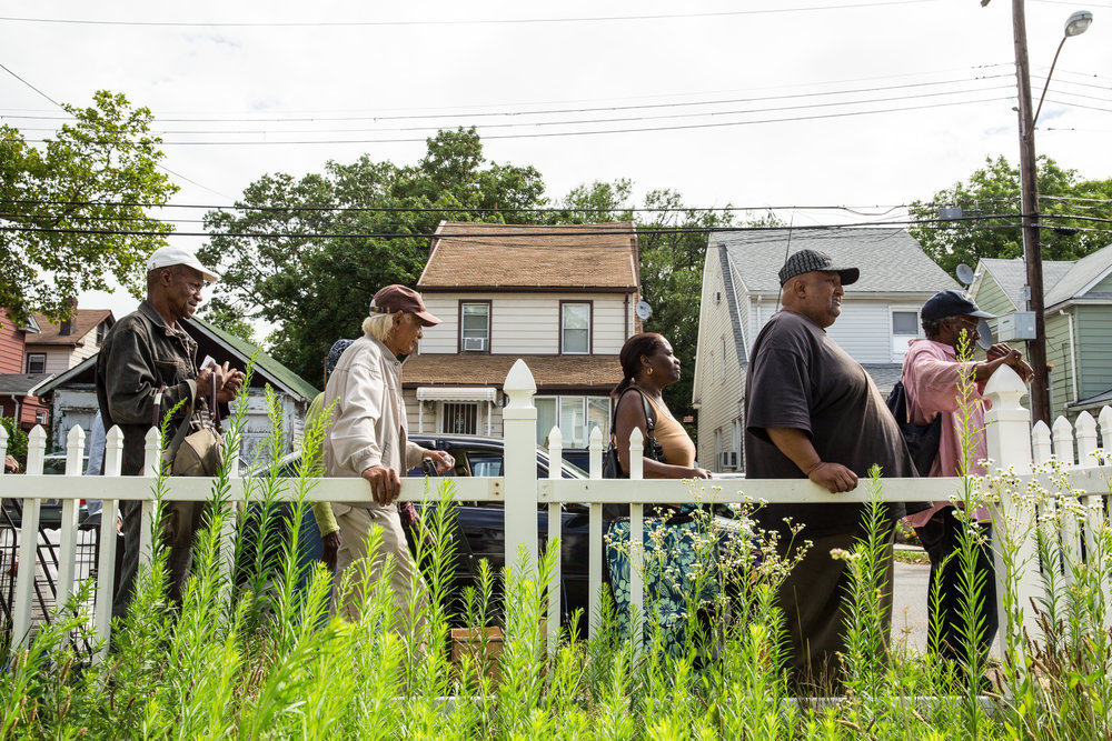 Each month, more than a thousand people collect groceries at this pantry, and the number keeps rising. The food distribution is a community service provided by Honor House, temporary housing for veterans in transition. Homes in this middle-class neighborhood sell in the $400,000 range.