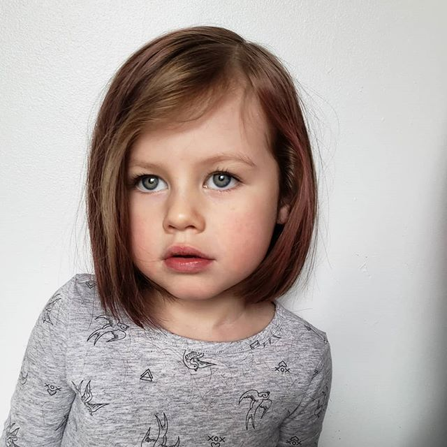 When you're 4 years old but you just know that a bob is going to highlight your best features. . . . Call 780.498.2668 for appointments and consultation #takecarecombyourhair 🤙