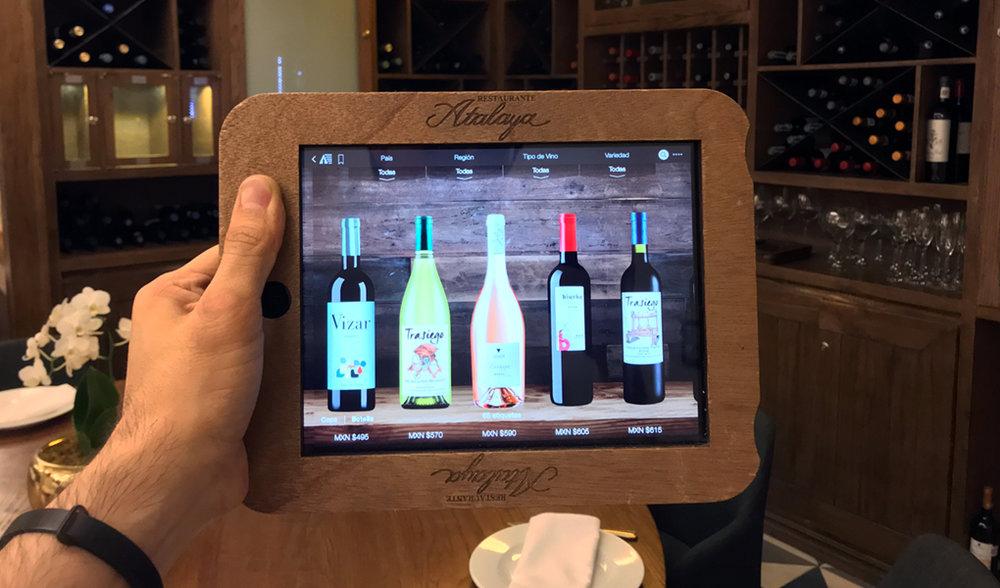 Cava iPad en Restaurante Atalaya