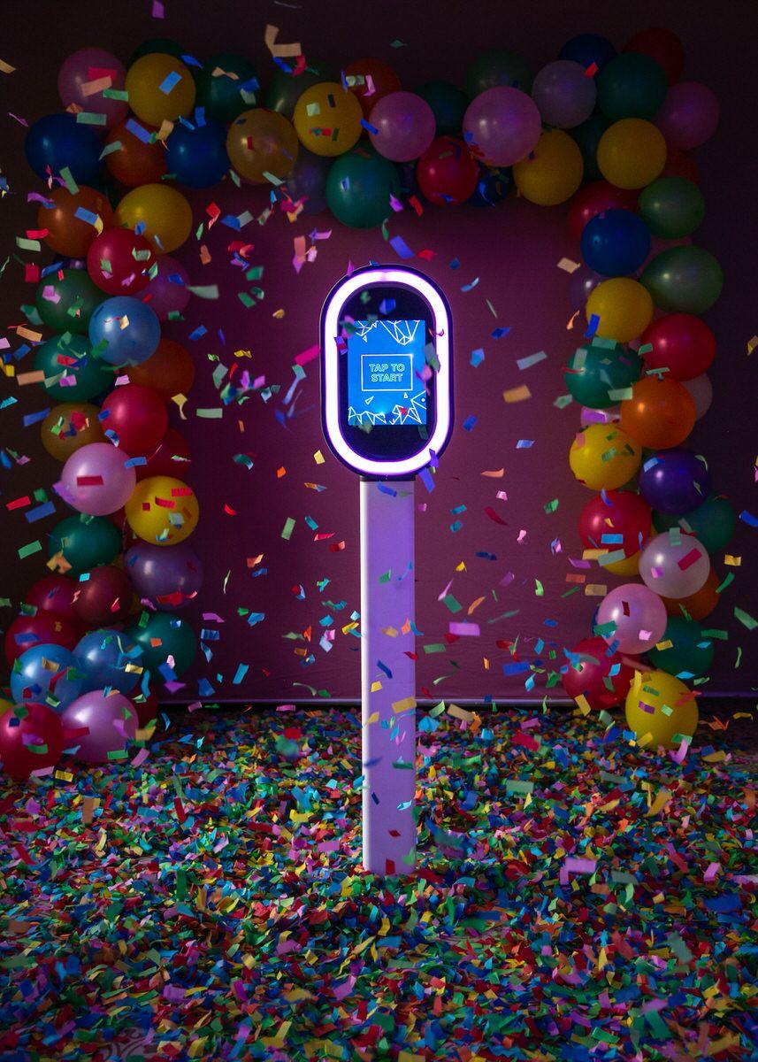 The New NEw booth - The new, futuristic premium. Maximum features, minimal taste. Starts at $650.