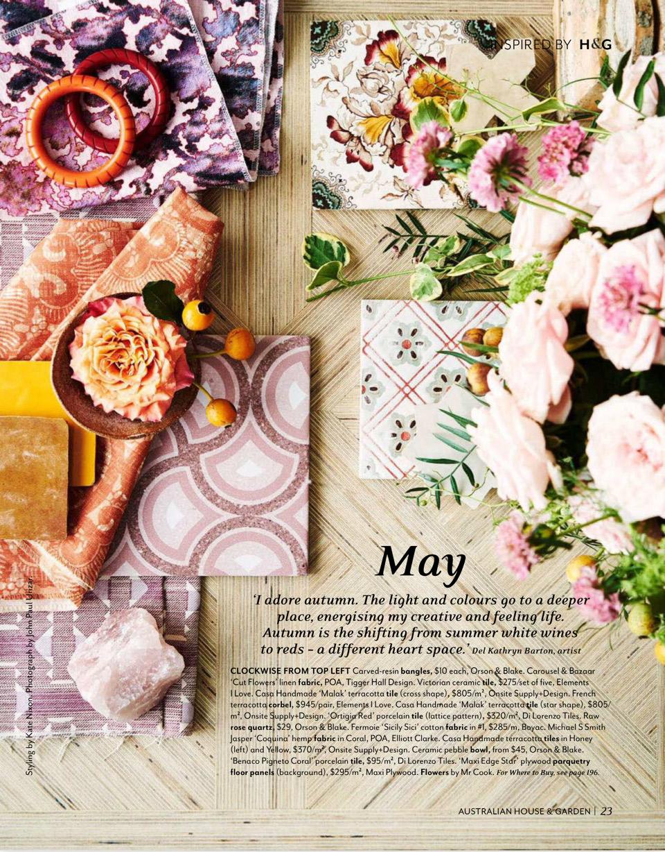 House & Garden - Cut Flower linen -