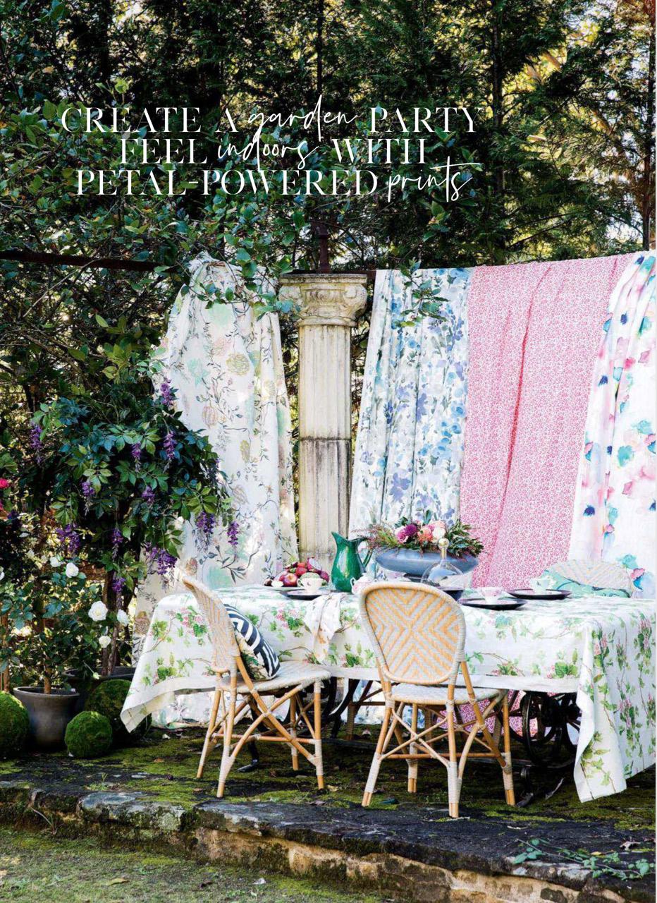 Home Beautiful - Floral Vines linen -
