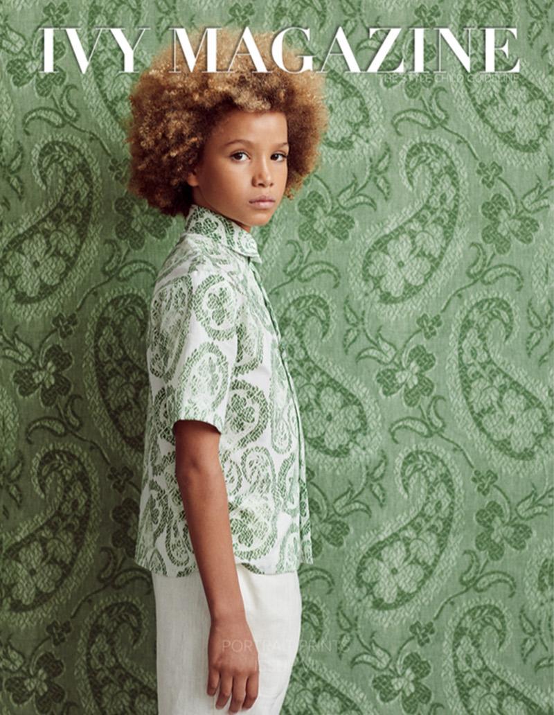 Ivy Magazine - Maharaja's Brocade wallpaper and Worn Paisley cotton -