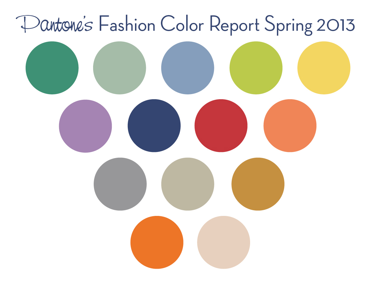 Pantone Fashion Colors for Spring 2013