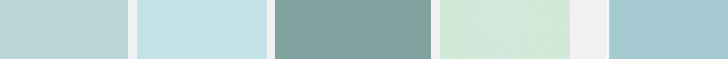 Versions of Duck Egg Blue