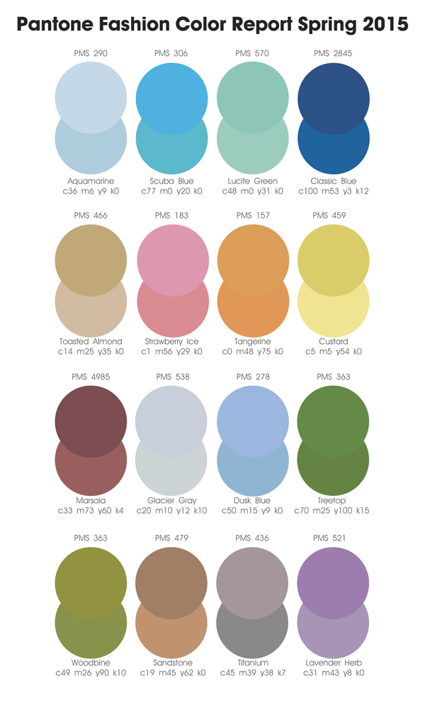 Fashion Colors Spring 2015