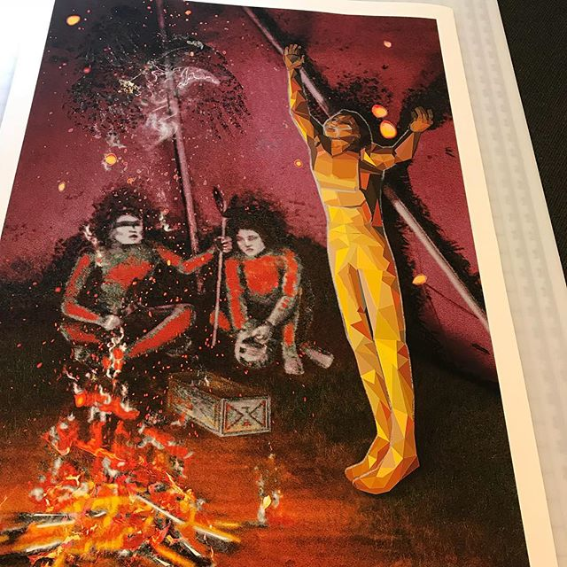 Artist Bryan Akipa print.  #fineartprinting #aplisfineartprinting #siouxfallsfineartprinting #digitalart #northernplainsindianartmarket #npiam #artshow #sissetonartists