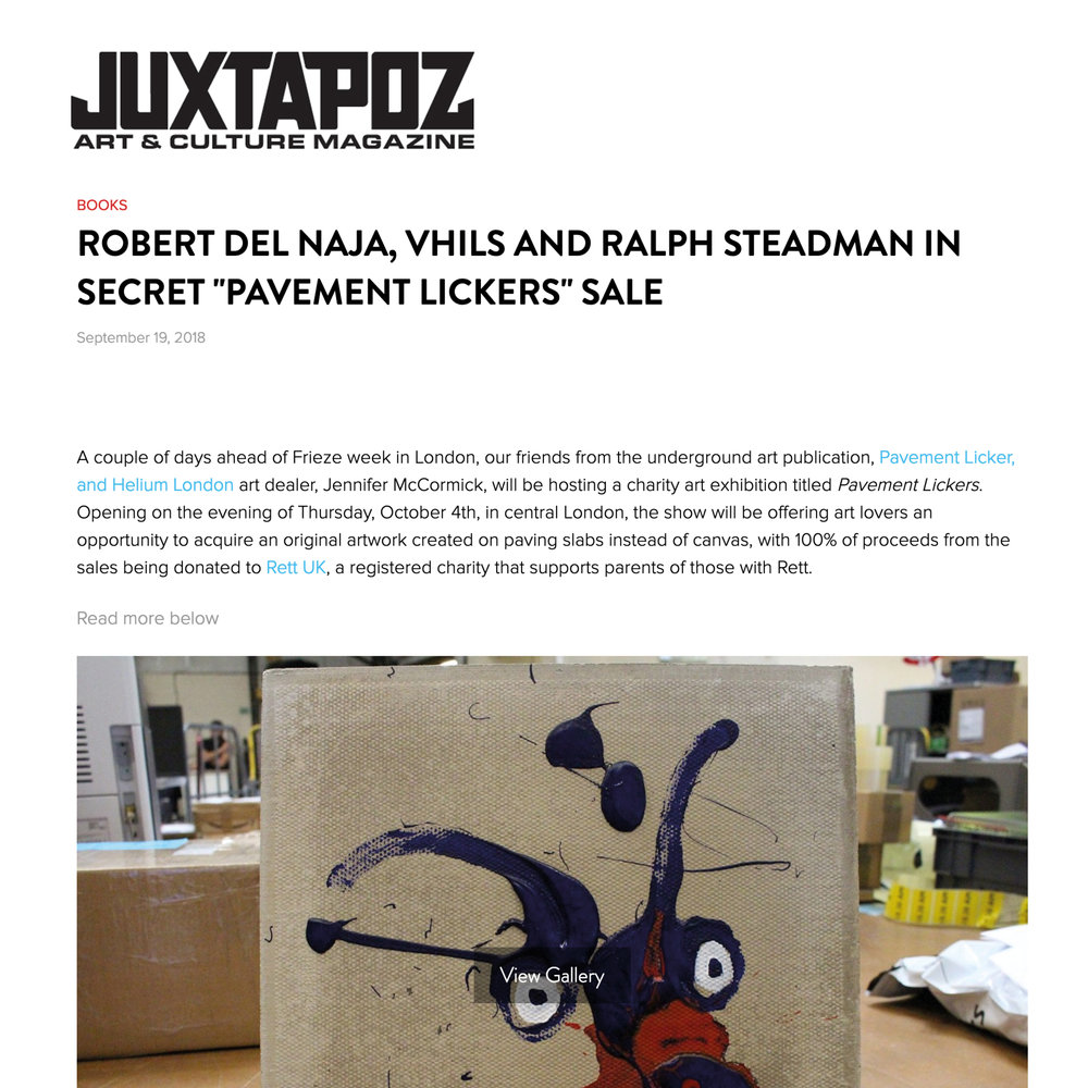 Pavement Licker featured by Juxtapoz