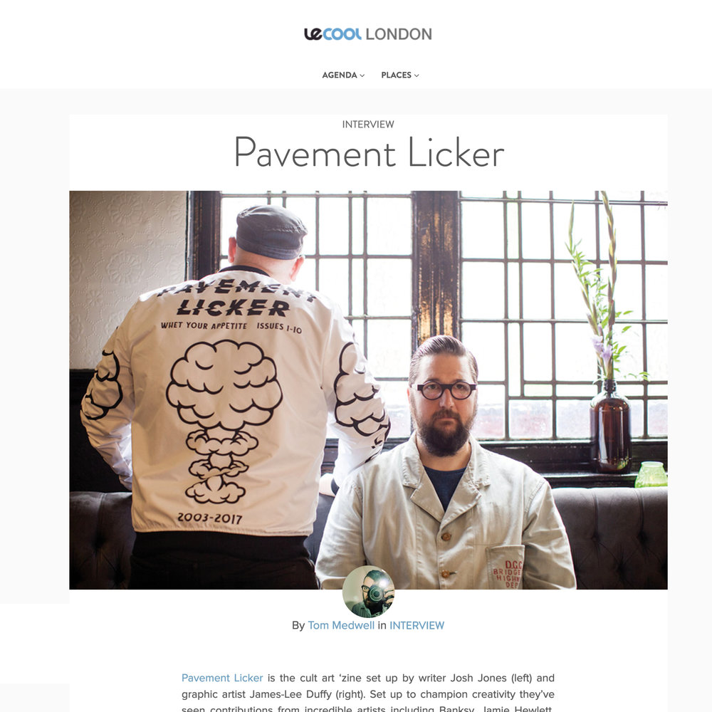 James-Lee Duffy and Josh Jones Interviewed about Pavement Licker by Le Cool London