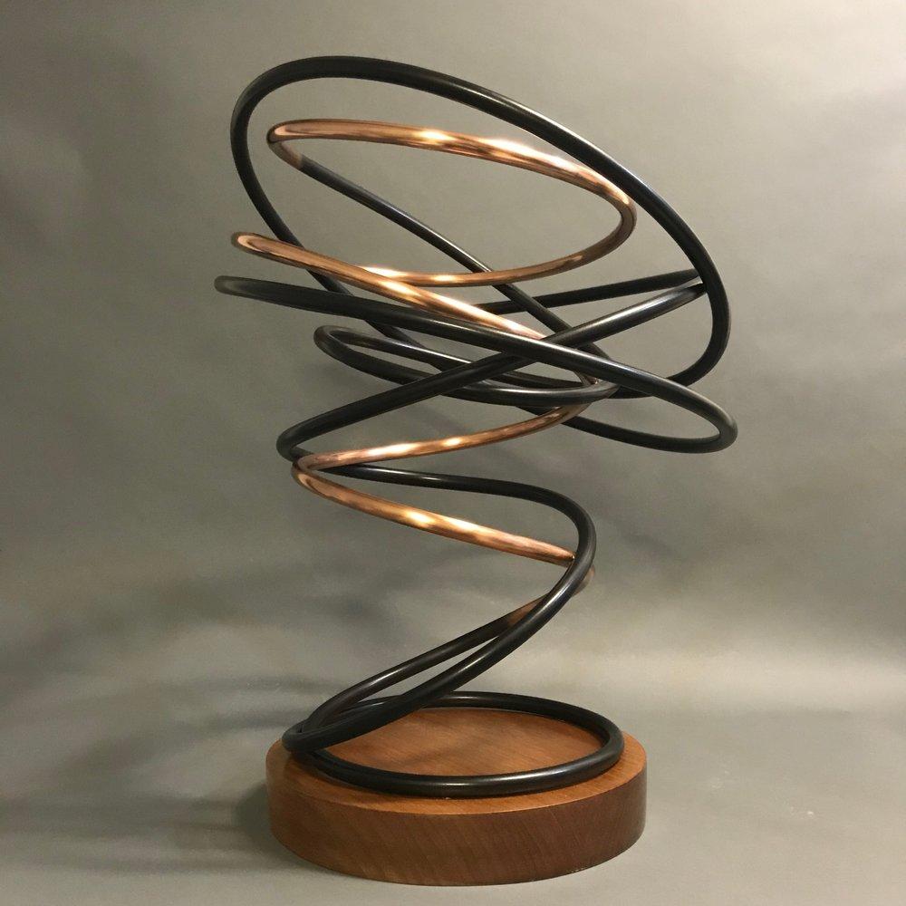 Copper and Black Spiral