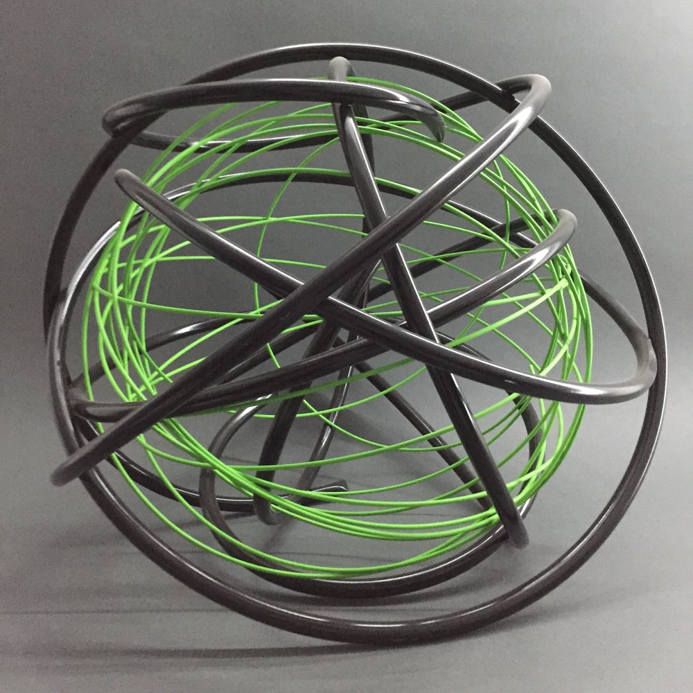 Green in Black Orb
