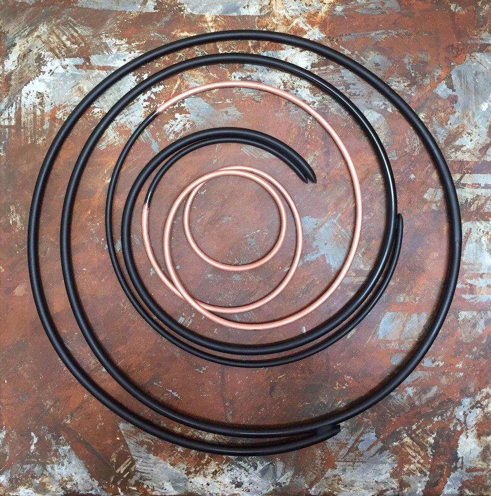 Copper in Black on Steel