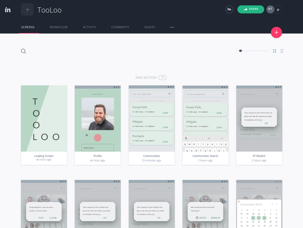 Prototype - Try out the prototype I made with Invision for yourself