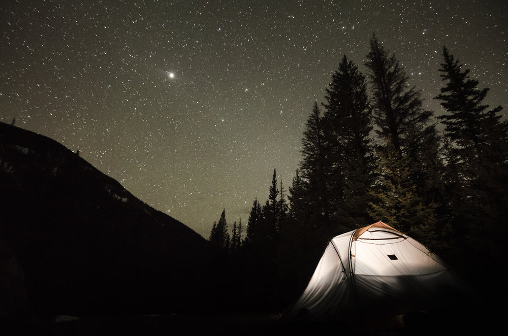 Camping in the Sangre de Cristo mountains. Photo courtesy of Andrew Gloor.