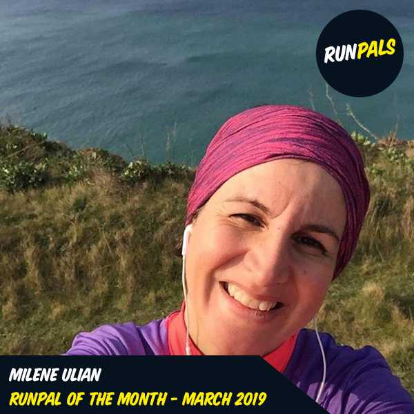 """Milene Ulian - March '19 - Milene got her mojo back and started to really enjoy her running again. Her spirit is second to none and her post just this morning sums up the reason why just perfectly """"This is the happiest day of my life"""" as she shared beautiful sunny pictures, running along our wonderfabulous playground of the south coast.Milene spreads cheer and happiness to everyone that she comes into contact with. She is pure joy to run with – it doesn't matter what pace you are doing – she will always cheer you on.Milene, congratulations pal, we couldn't have thought of a more deserved winner for the month of March."""