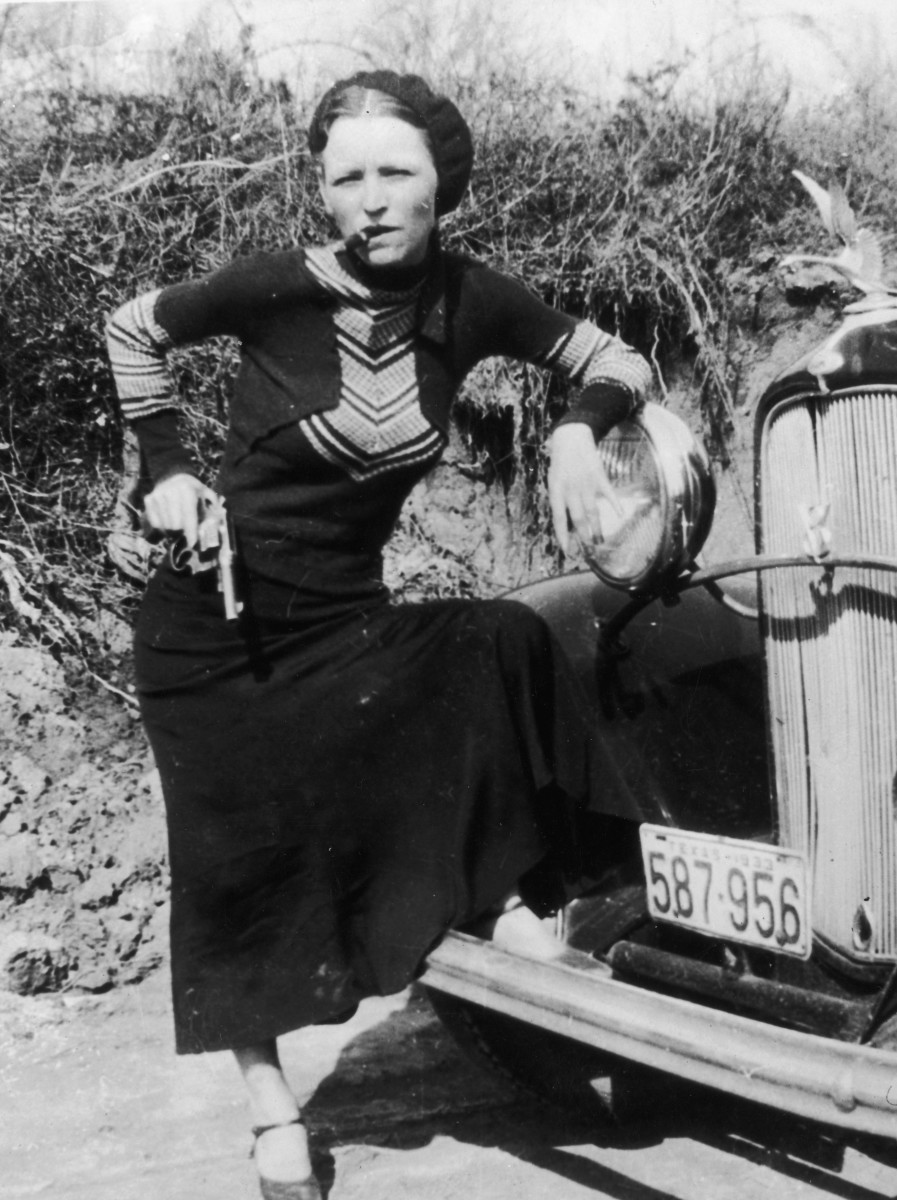 Bonnie Parker with Cigar