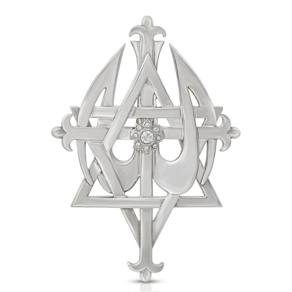 Large Shiny Silver with Diamond lotus.jpg