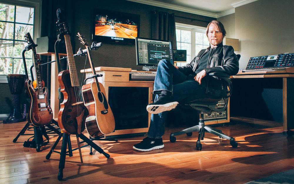 Bill in the studio - February 2015