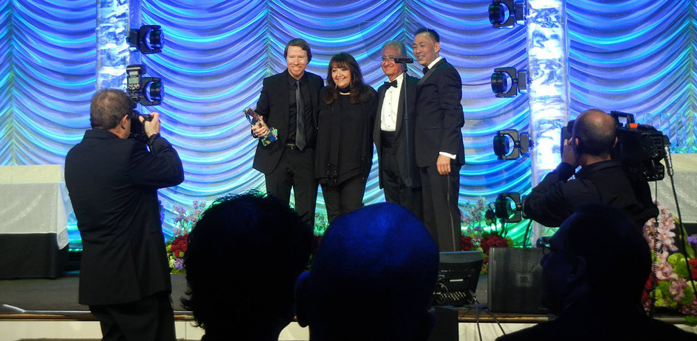 Bill accepting his ninth BMI Television Music Award for his work on CSI:NY