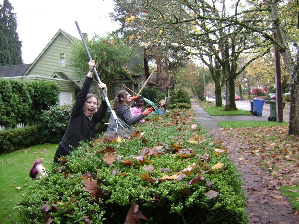 Helping our South Salem neighbors with our Annual Rake-n-Run community service