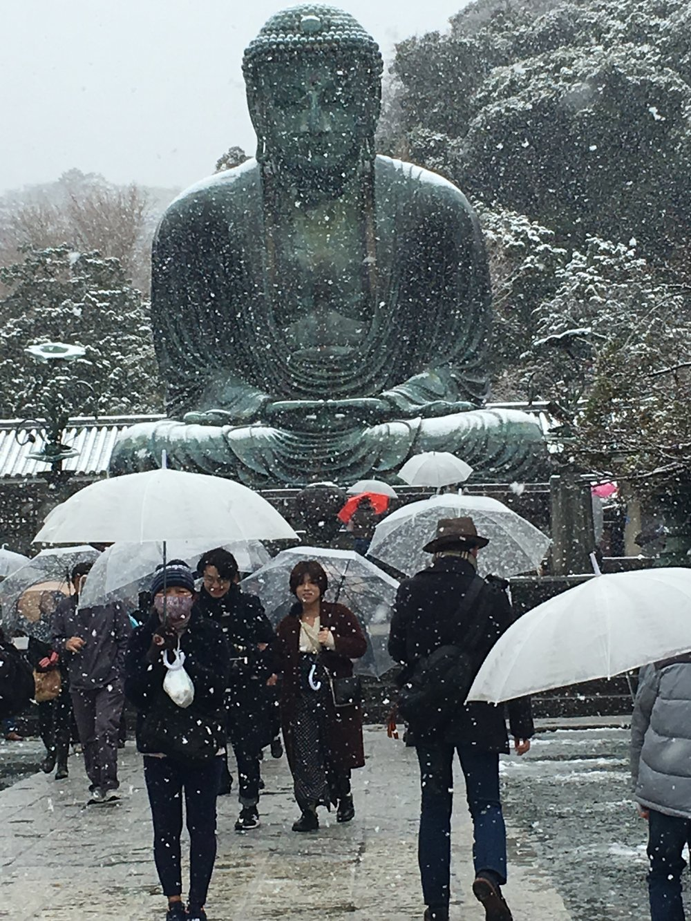 the Great Buddha of Kamakura - March 2018 - first day of Spring