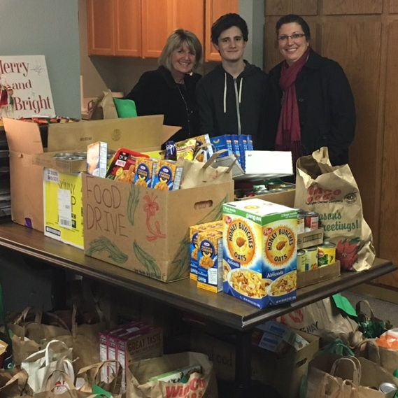 Our annual food drive for St. Francis Shelter