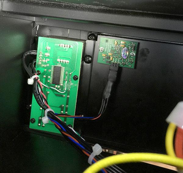 PIR sensor on the right.