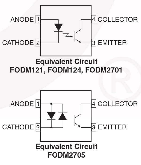 Top: DC optoisolator Bottom: AC optoisolator